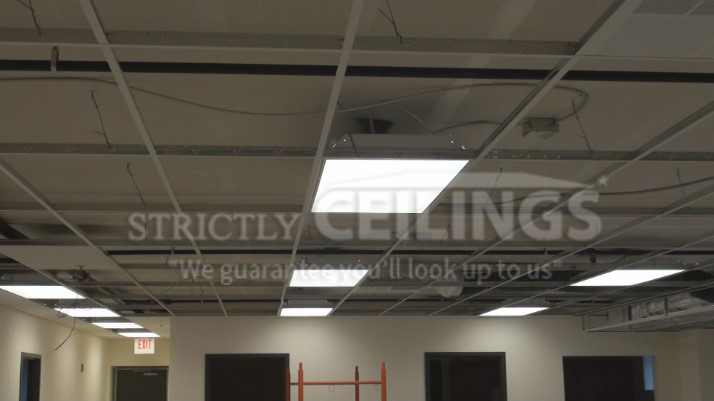 Basic Ceiling Grid Layout Drop Ceilings Installation How To