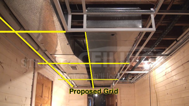 how to build a drop ceiling