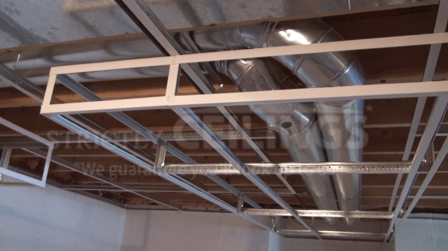 installing a basement drop ceiling is that the height of the ceiling