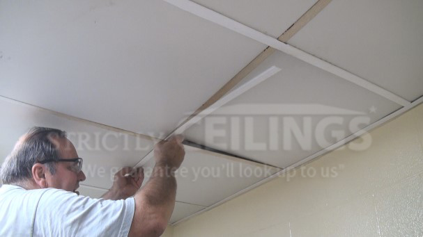 Install Vinyl Grid Covers Over An Existing Grid Frame