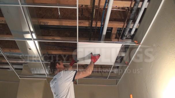 Installing 9 16 Narrow Drop Ceiling Grid Drop Ceilings