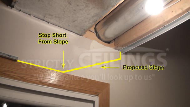 How To Build A Stairwell Slope Drop Ceilings