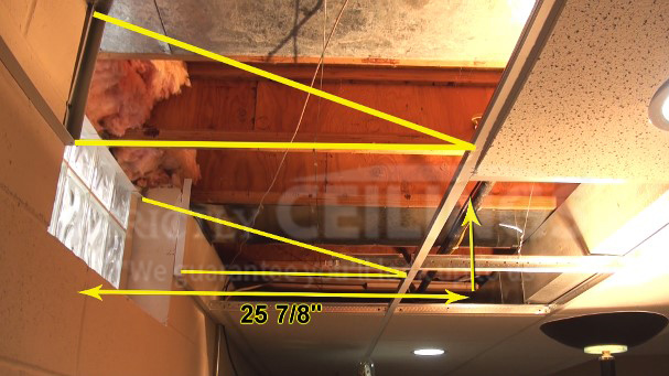 How To Build A Drop Ceiling Window Well Slope Drop