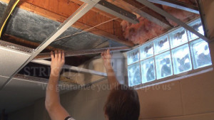 drop ceiling window well slope drop ceilings installation how to
